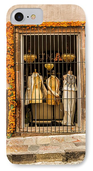San Miguel Shop Window IPhone Case by Lindley Johnson