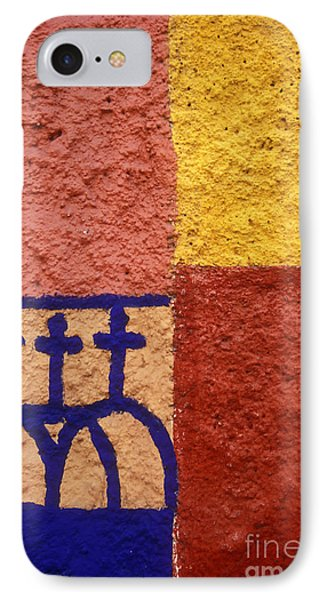 IPhone Case featuring the photograph San Miguel Wall San Miguel De Allende Mexico by John  Mitchell