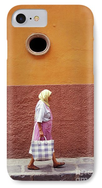 IPhone Case featuring the photograph San Miguel Woman San Miguel De Allende Mexico by John  Mitchell