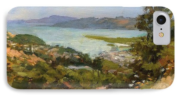 San Rafael Bay From Via La Cumbre, Greenbrae, Ca Phone Case by Peter Salwen