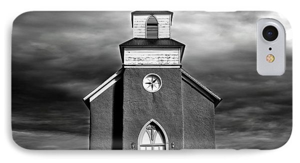 San Rafael Mission Church, La Cueva, New Mexico, Illiminated By  IPhone Case by Mark Goebel