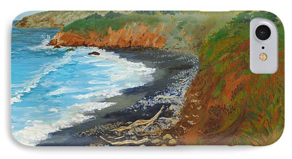 IPhone Case featuring the painting San Simeon Ca Coast by Katherine Young-Beck