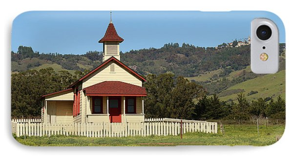 IPhone Case featuring the photograph San Simeon - Castle And Schoolhouse by Art Block Collections