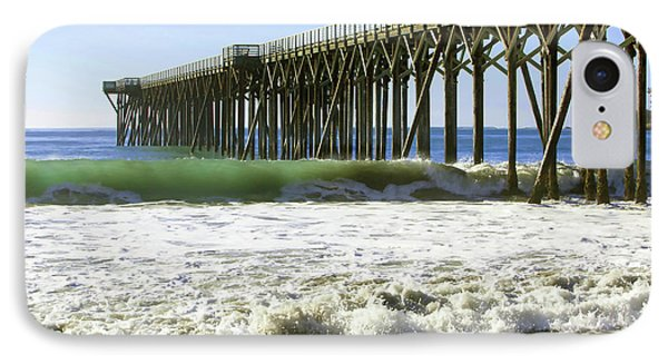 IPhone Case featuring the photograph San Simeon Pier by Art Block Collections