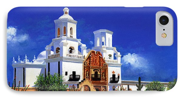 San Xavier Del Bac Mission IPhone Case by M Diane Bonaparte