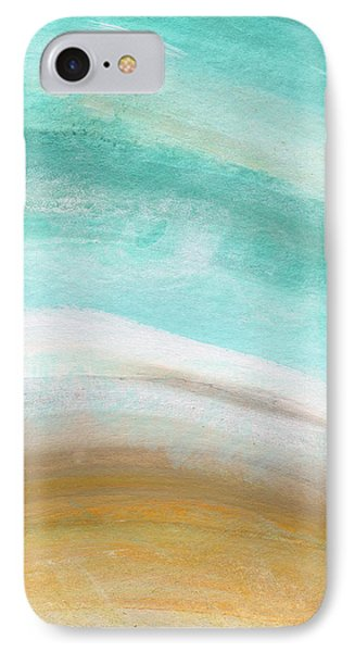Sand And Saltwater- Abstract Art By Linda Woods IPhone Case