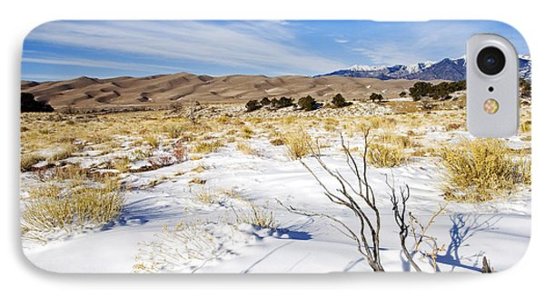 Sand And Snow Phone Case by Mike  Dawson