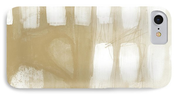 Sand And Stone 4- Contemporary Abstract Art By Linda Woods IPhone Case