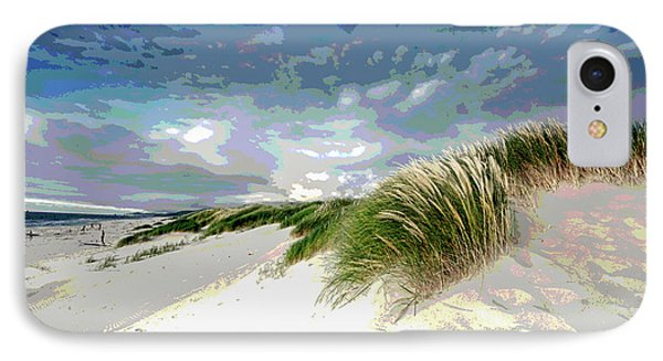 Sand And Surfing IPhone Case by Charles Shoup