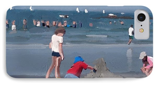 Sand Castle And Sailboats At Wingaersheek Beach IPhone Case