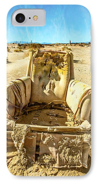 Sand Chair IPhone Case by Peter Tellone