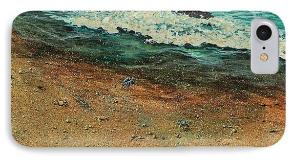 IPhone Case featuring the painting Sand Crabs by Darice Machel McGuire