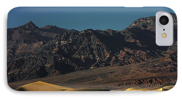 Sand Dunes - Death Valley's Gold Phone Case by Christine Till