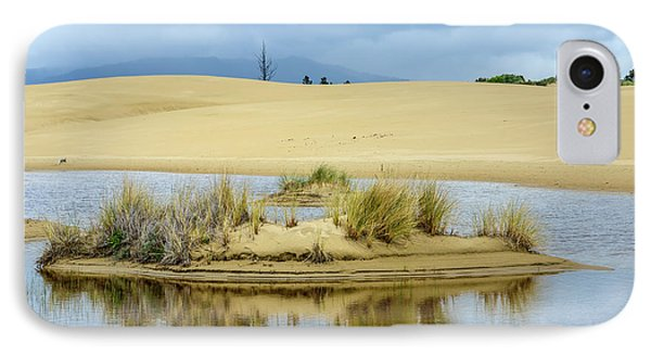 Sand Dunes And Water IPhone Case by Jerry Cahill