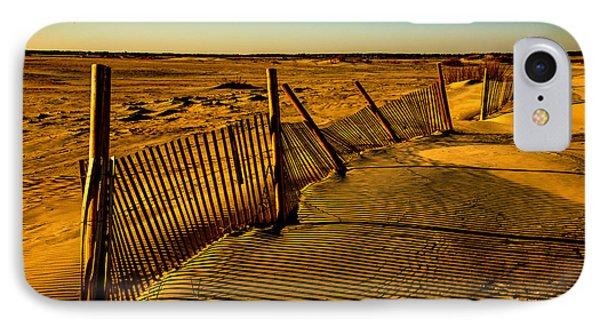 Sand Fences At Lands End II IPhone Case by John Harding