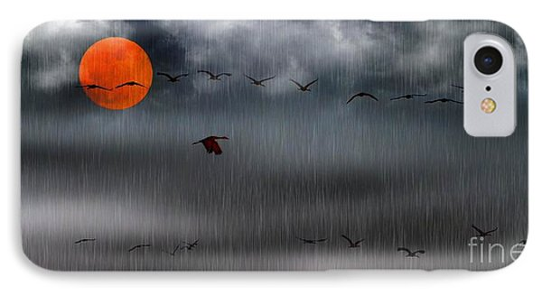 Sand Hills Flying In The Rain IPhone Case
