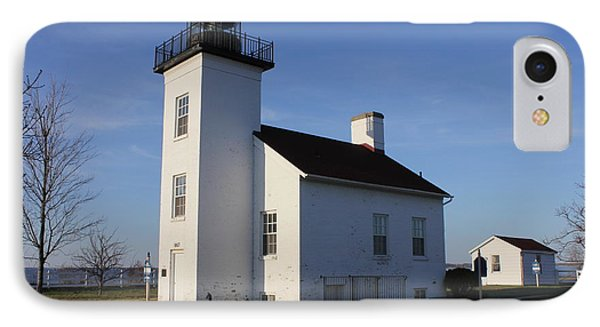 Sand Point Lighthouse In Escanaba IPhone Case by Charles and Melisa Morrison