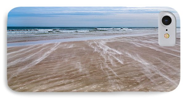 IPhone Case featuring the photograph Sand Swirls On The Beach by John M Bailey
