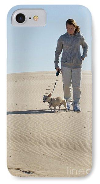 IPhone Case featuring the photograph Sand Walk by Tara Lynn