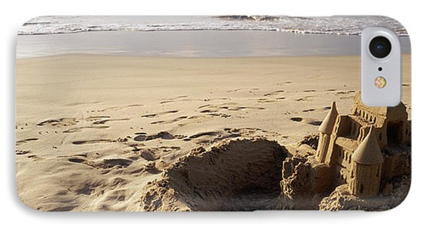 Sandcastle On The Beach, Hapuna Beach IPhone Case by Panoramic Images