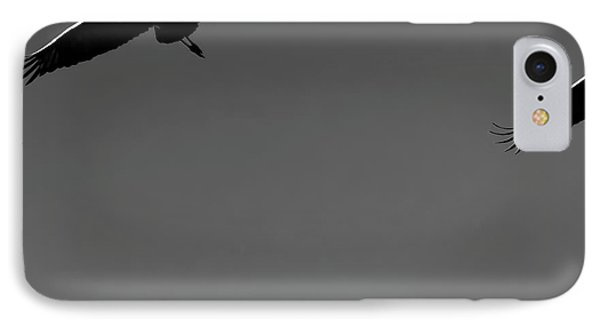 IPhone Case featuring the photograph Sandhill Crane In Flight by Britt Runyon