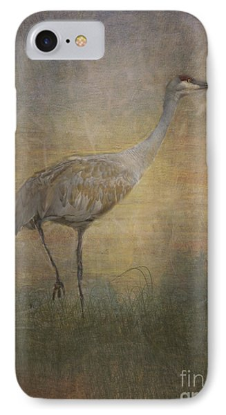 Sandhill Crane Watercolor IPhone Case