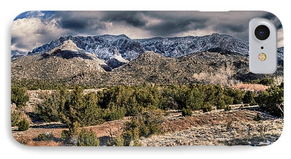 Sandia Mountain Landscape IPhone Case by Alan Toepfer