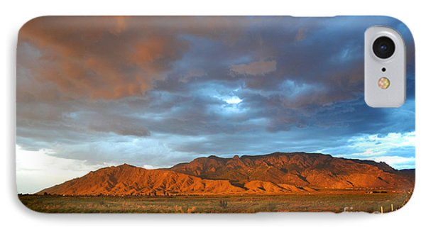 Sandia Mountains Colorful Sunset IPhone Case by Andrea Hazel Ihlefeld