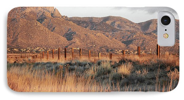 Sandia Mountains Rustic Fence Countryside IPhone Case by Andrea Hazel Ihlefeld