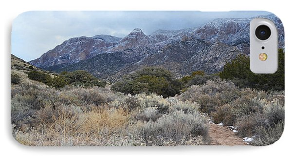 Sandia Mountains Storm Winter Landscape IPhone Case by Andrea Hazel Ihlefeld