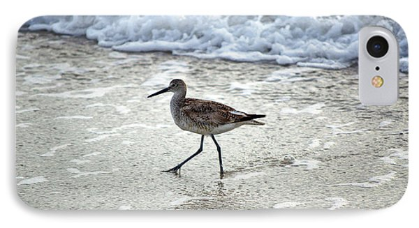 Sandpiper Escaping The Waves IPhone Case by Kenneth Albin