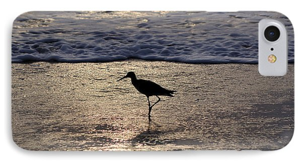Sandpiper On A Golden Beach Phone Case by Kenneth Albin