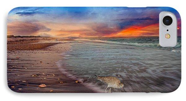Sandpiper iPhone 7 Case - Sandpiper Sunrise by Betsy Knapp