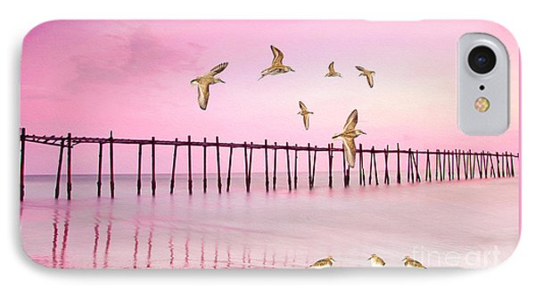 Sandpiper iPhone 7 Case - Sandpiper Sunset by Laura D Young