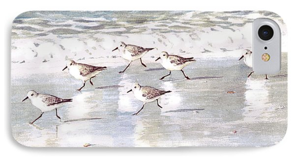 Sandpipers On Siesta Key IPhone Case by Shawn McLoughlin