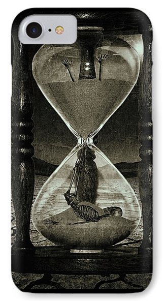 Sands Of Time ... Memento Mori - Monochrome IPhone Case by Marian Voicu