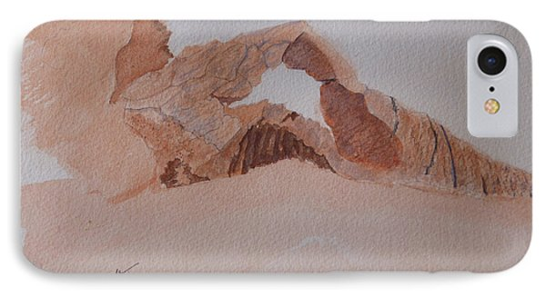 IPhone Case featuring the painting Sandstone Arch - Valley Of Fire  by Joel Deutsch