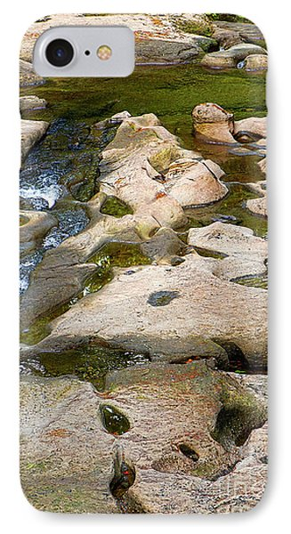 IPhone Case featuring the photograph Sandstone Creek Bed by Sharon Talson