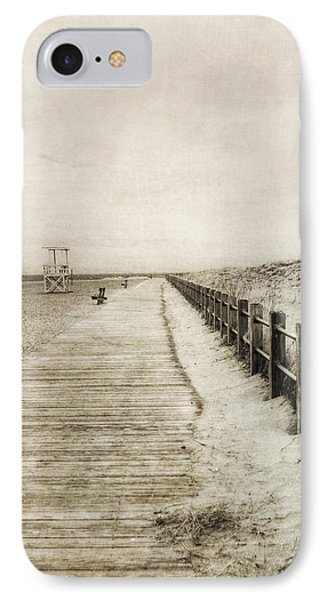 Sandy Beach Pathway - Milford Ct. IPhone Case by Joann Vitali