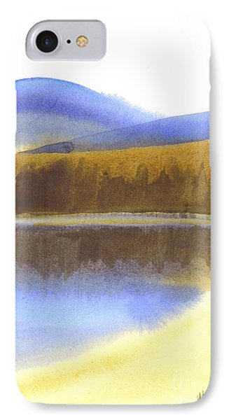 IPhone Case featuring the painting Sandy Blue Dusky Mountain Lake by Kip DeVore