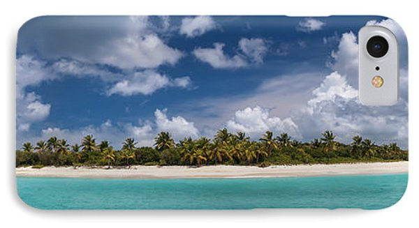 Sandy Cay Beach British Virgin Islands Panoramic IPhone Case by Adam Romanowicz