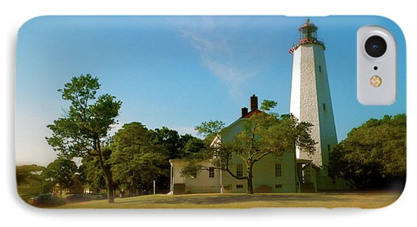 IPhone Case featuring the photograph Sandy Hook Lighthouse by Iconic Images Art Gallery David Pucciarelli