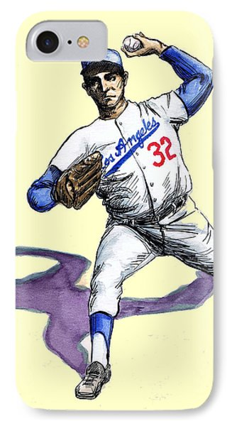 Sandy Koufax IPhone Case by Mel Thompson