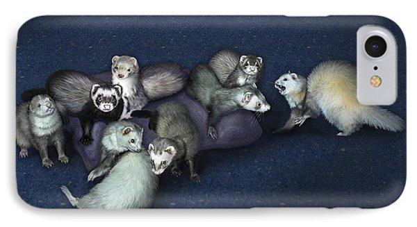 Sandy's Ferrets Phone Case by Barbara Hymer