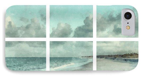 Sanibel Island Bowman Beach Watercolor Grid IPhone Case by Edward Fielding