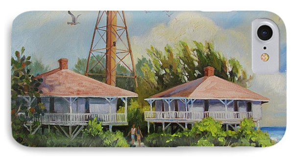 Sanibel Lighthouse IPhone Case by Dianna  Willman