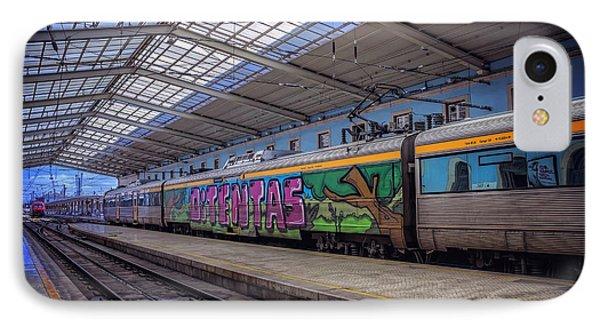 Santa Apolonia Train Station Lisbon IPhone Case by Carol Japp
