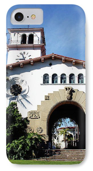 Santa Barbara Courthouse -by Linda Woods IPhone Case by Linda Woods