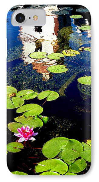 Santa Barbara Mission Fountain IPhone Case by Jeff Lowe