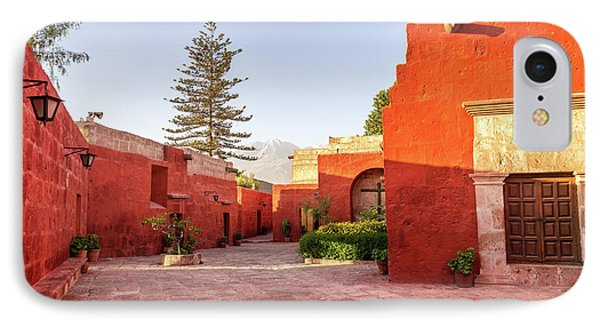 Santa Catalina Monastery Courtyard IPhone Case by Jess Kraft